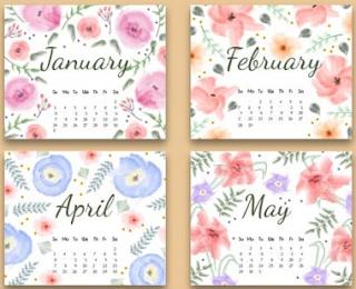 http://www.freepik.com/free-vector/floral-2016-calendar_820733.htm