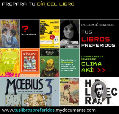 http://mydocumenta.wordpress.com/comunidad/recomienda-tus-libros-preferidos/