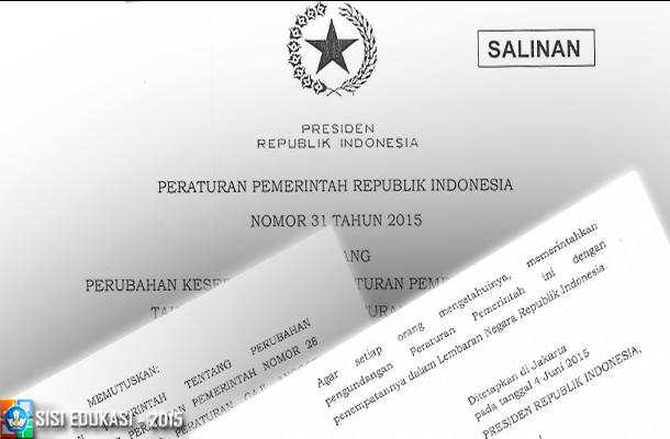 PP No. 31 Tahun 2015 Tentang Kenaikan Gaji TNI Tahun 2015