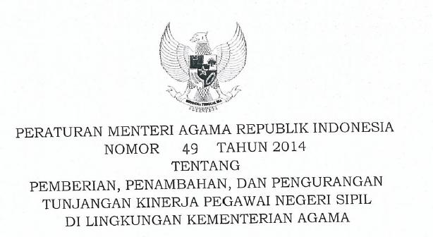 Tunjangan Kinerja Kementerian Agama