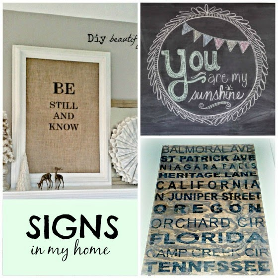 Signs and chalkboards www.diybeautify.com