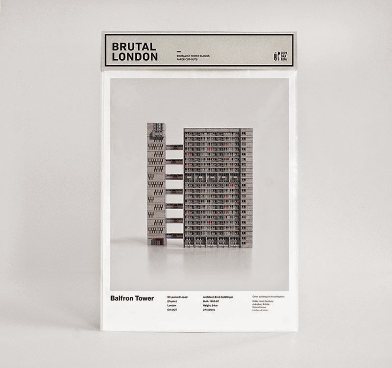 Brutal London edificios brutalistas de papel