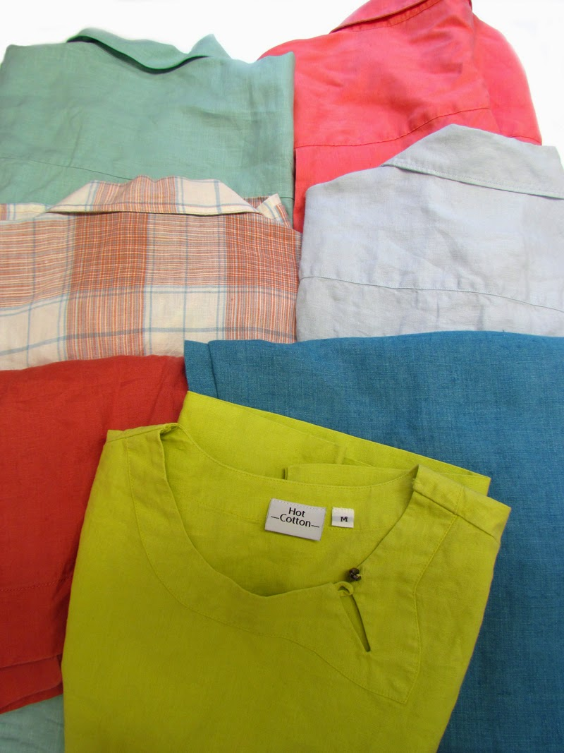 Thrift store finds:  linen shirts