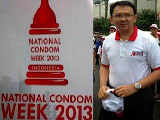 Ahok dan Logo Pekan Kondom Nasional