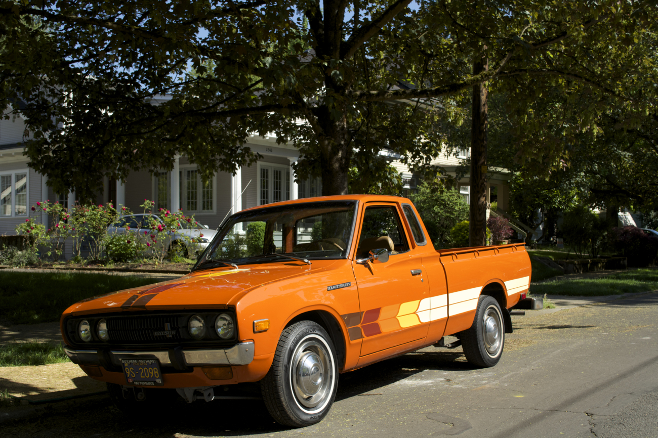 OLD PARKED CARS.: 1978 Datsun 620 King Cab.