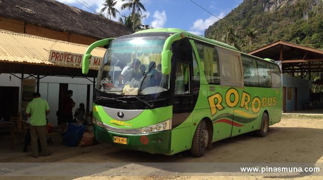 Roro Bus Terminal in El Nido Palawan