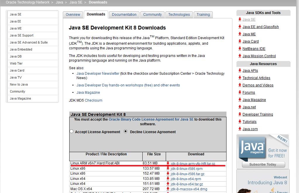 Oracle java raspberry pi download