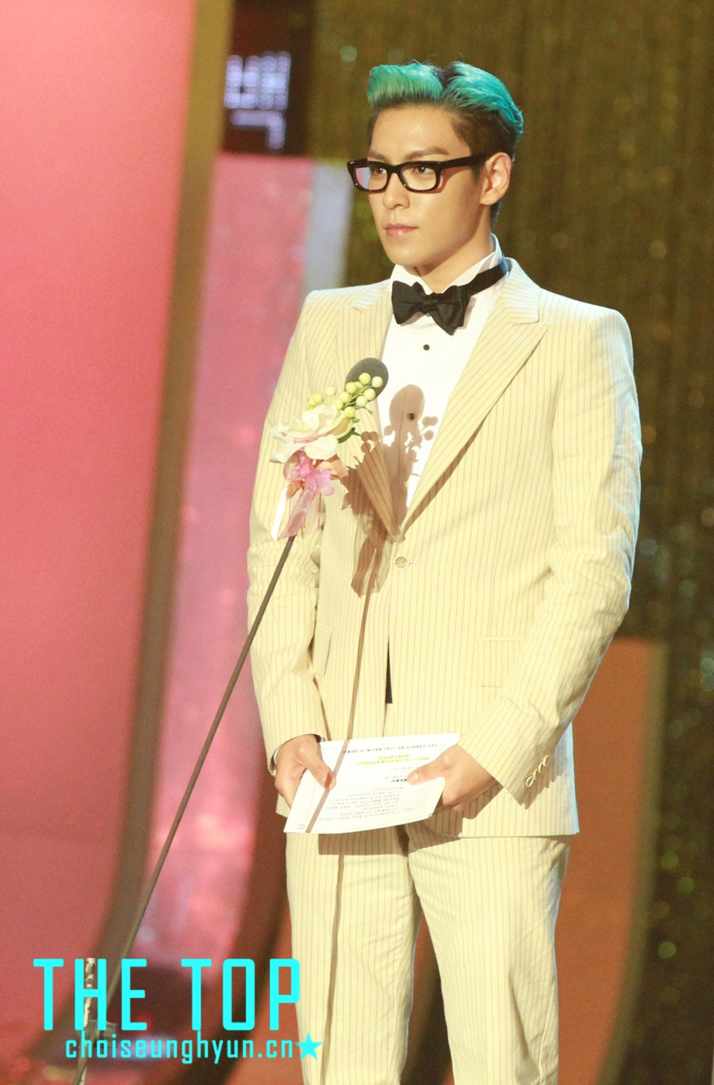 T.O.P at Paeksang Awards 2012