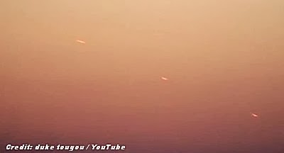 UFOs Caught on Video Over Tokyo