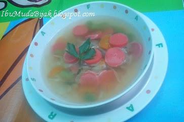 Sup Ayam Plus Sosis