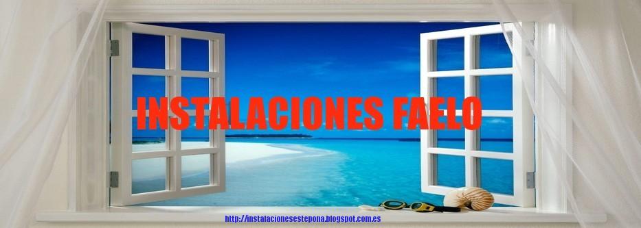 INSTALACIONES FAELO - ESTEPONA, ALUMINIOS, PERSIANAS, CRISTALES, MOSQUITERAS, MAMPARAS DE BAÑO