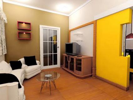 lantai kayu ruang tamu
