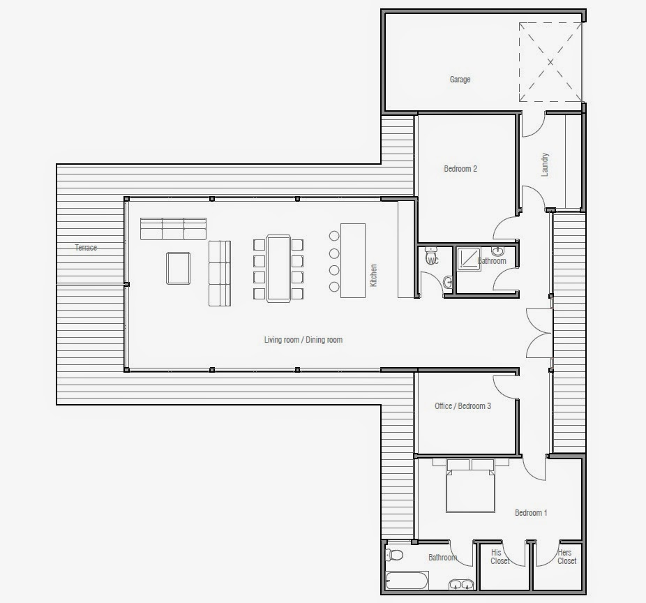 Modern beach house plan