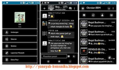 Download Gratis BBM Mod MR Black