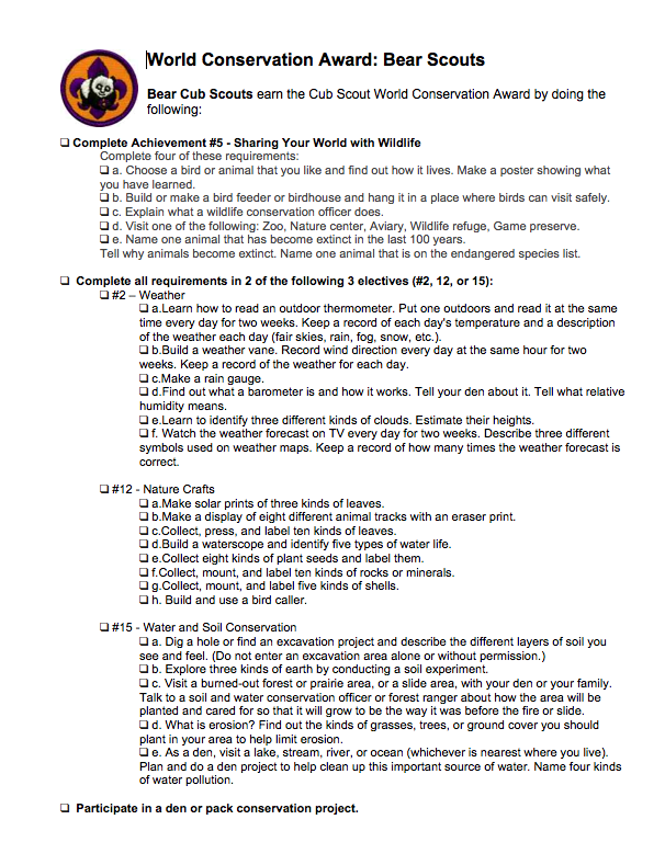 Cub Scout Love Outdoor Activity Ethics Awareness World – Boy Scout Worksheets