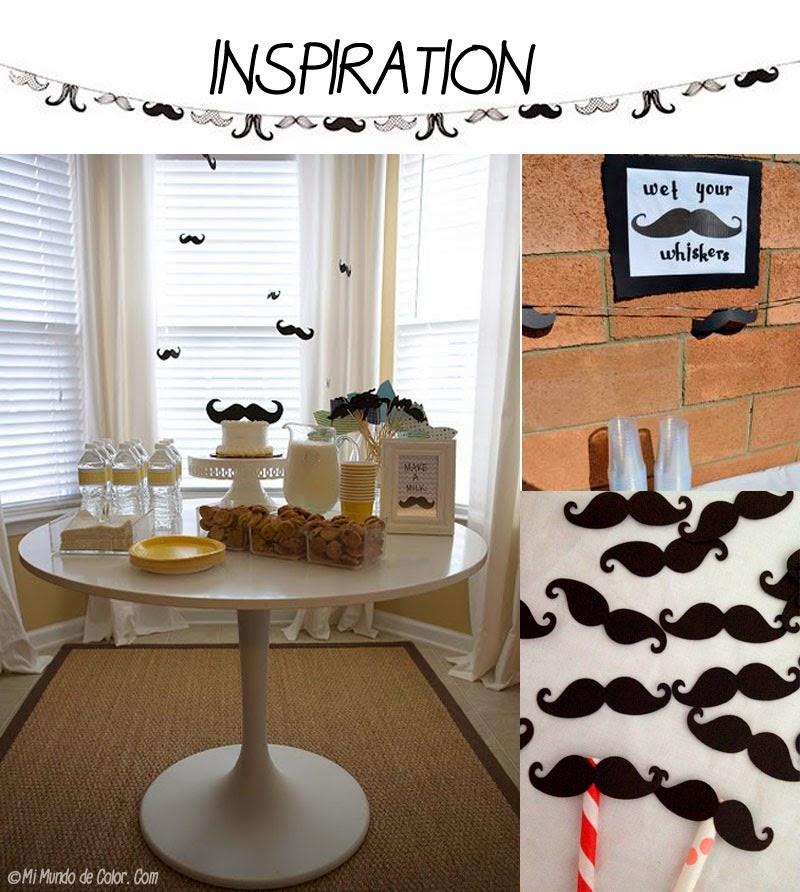 diy decoracion de fiesta de bigotes