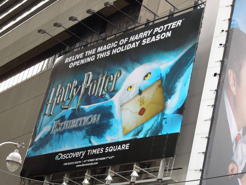 Harry Potter Exhibition NYC billboard