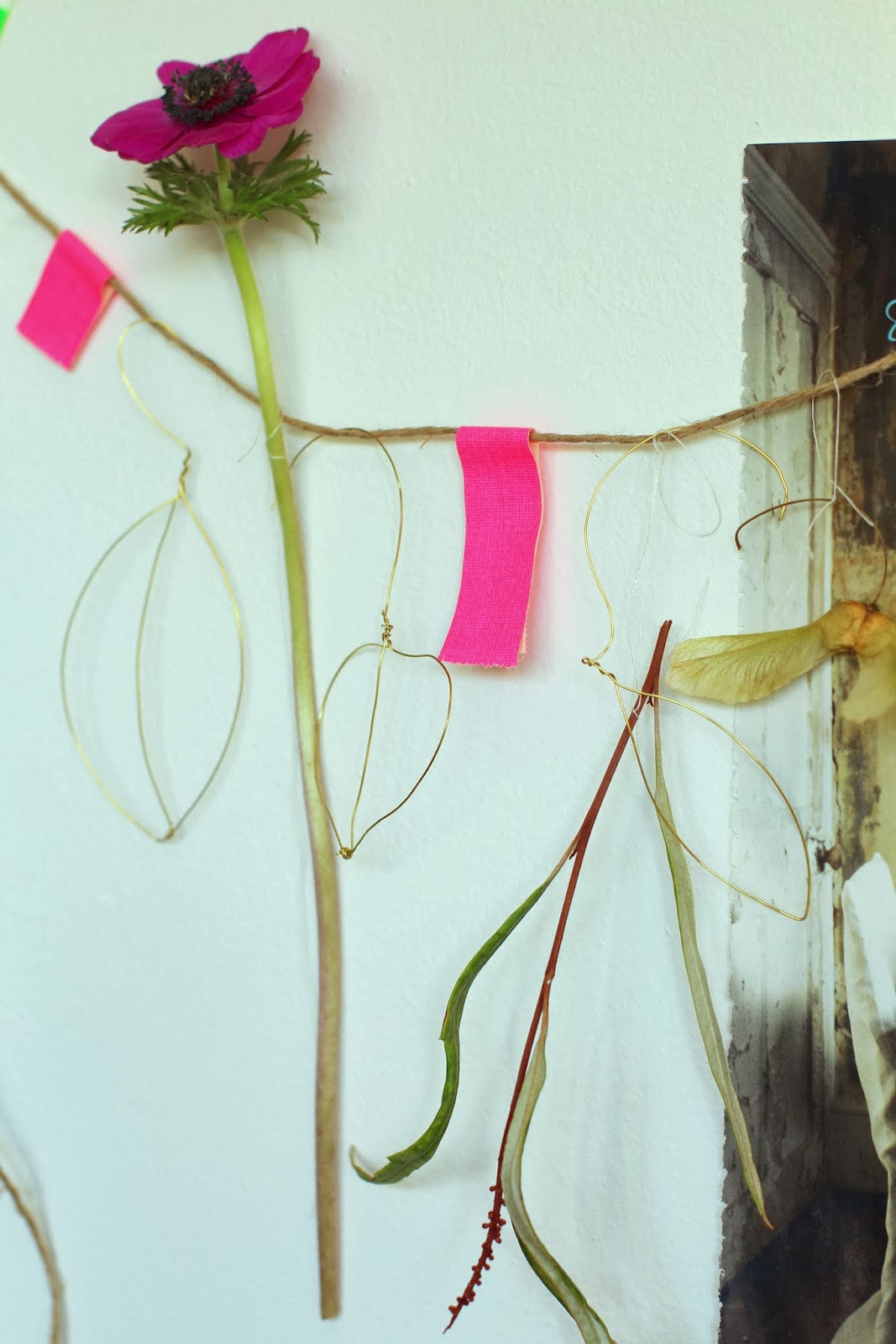 craft details, trend-daily blog, carolinedavis-stylist.com, wire flowers and leaves