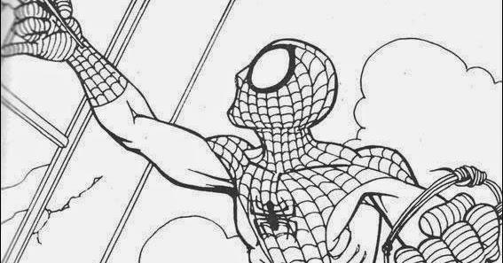 Coloriage spiderman sans imprimer coloriage en ligne - Coloriage spiderman en ligne ...