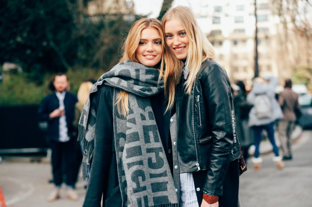 Emmy Rappe and Eva Berzina in Paris