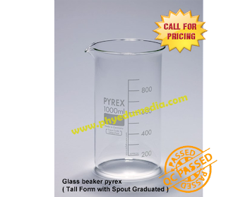 Jual Beaker Glass Pyrex Tall Form with Spout Graduated