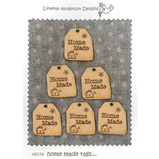 Lynette Anderson Designs HOME MADE Tags Buttons