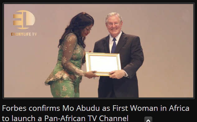 Mo Abudu as first woman in Africa to launch a TV channel