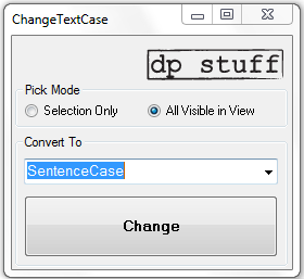 ChangeTextCase Revit Addin util from dp Stuff