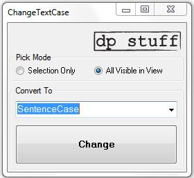 ChangeTextCase Revit Addin util from dp Stuff