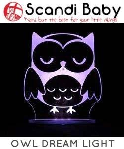 Scandi Baby dream light owl night light