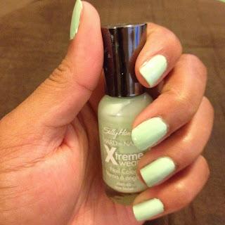 mint green nail polish