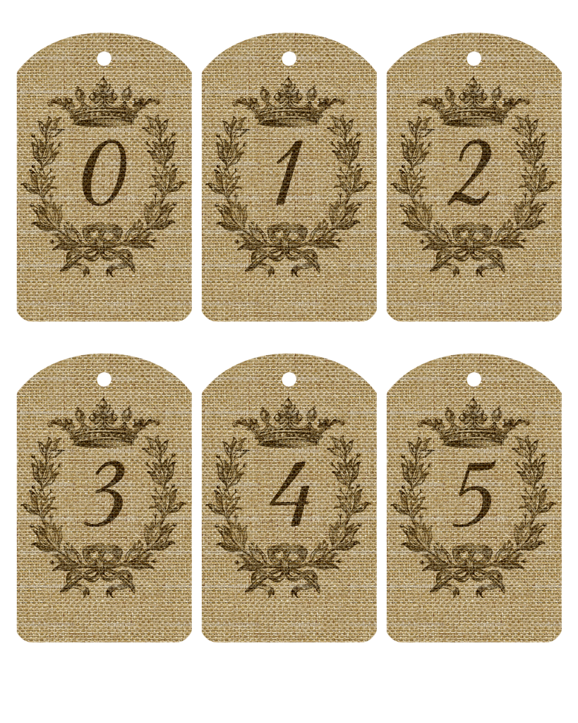 Gorgeous image intended for printable number tags
