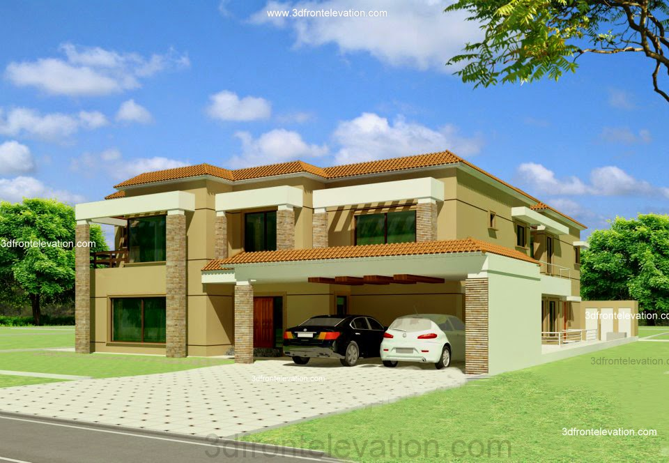 3D Front Elevation.com: Valencia 1 , 2 Kanal House in Lahore Pakistan ...