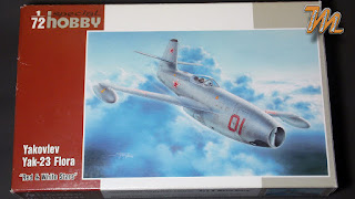 "Special Hobby 1:72 Yak-23 ""Flora"", kit # 72248 inbox review"