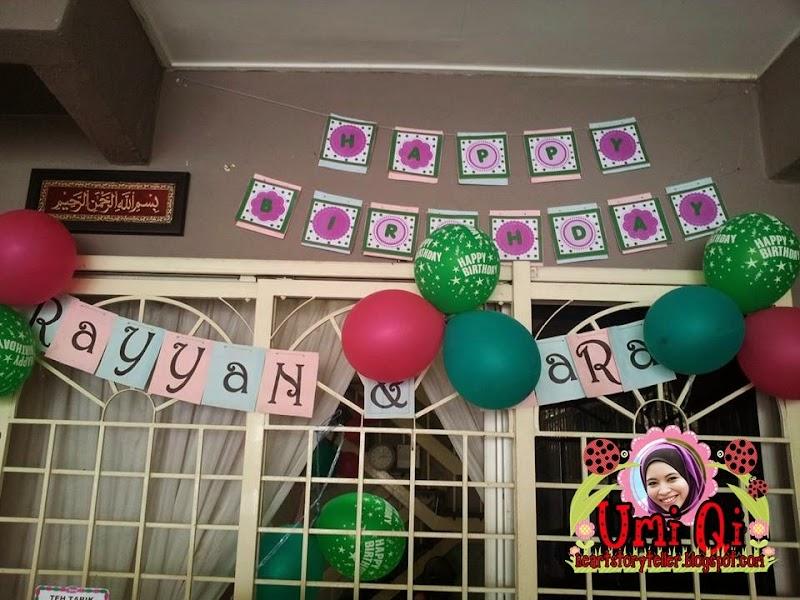 Birthday Party Yaya & Rayyan | Blogger Ameris Loveris