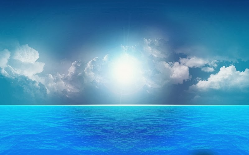 Blue sky sun and sea Beautiful Nature Images And Wallpapers