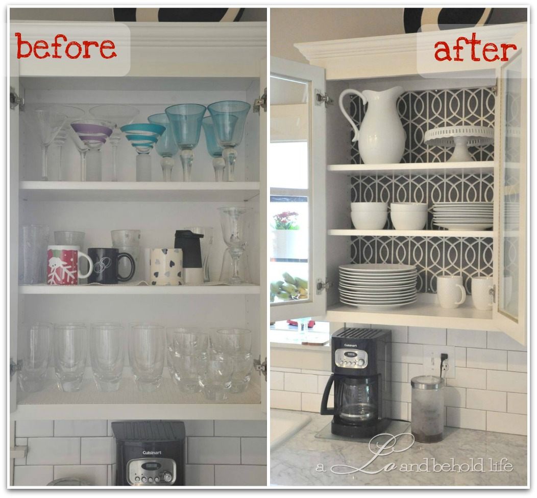 Kitchen With Open Cabinets: Operation Kitchen Cabinet Re-org