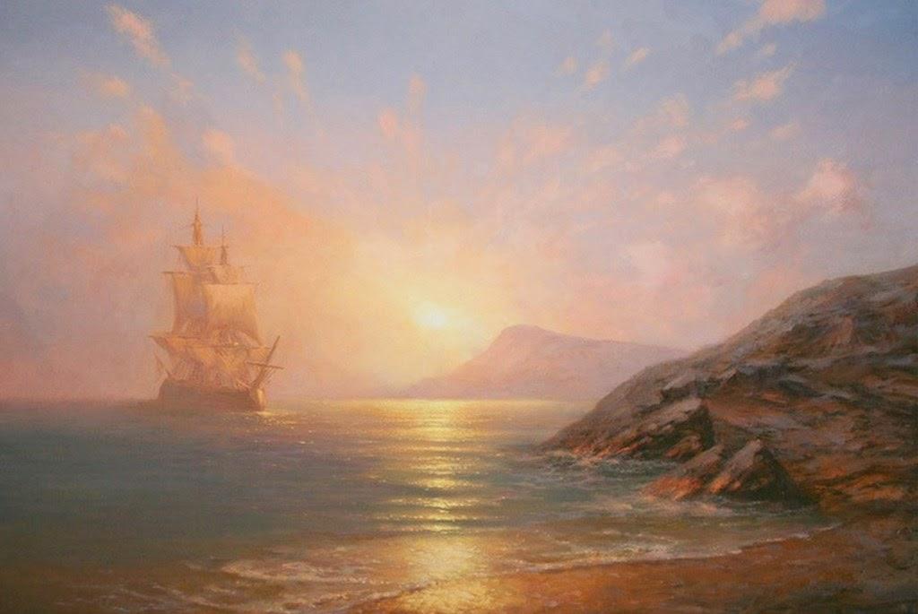 paisajes-al-oleo-con-barcos-de-vela