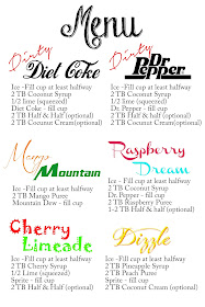 Dirty soda recipes, dirty soda bar, dirty diet coke recipe