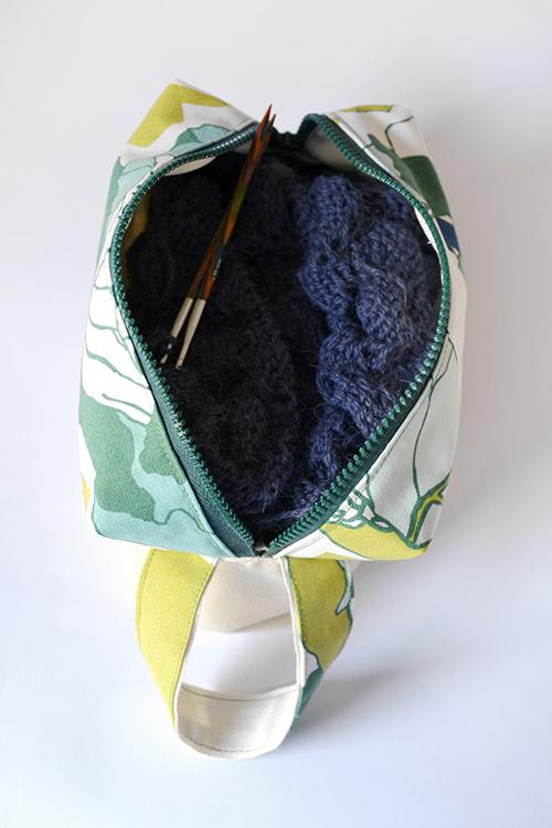 knitter's bag - borsa portalavoro per ferri e uncinetto