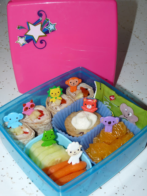 animal party bento lunch