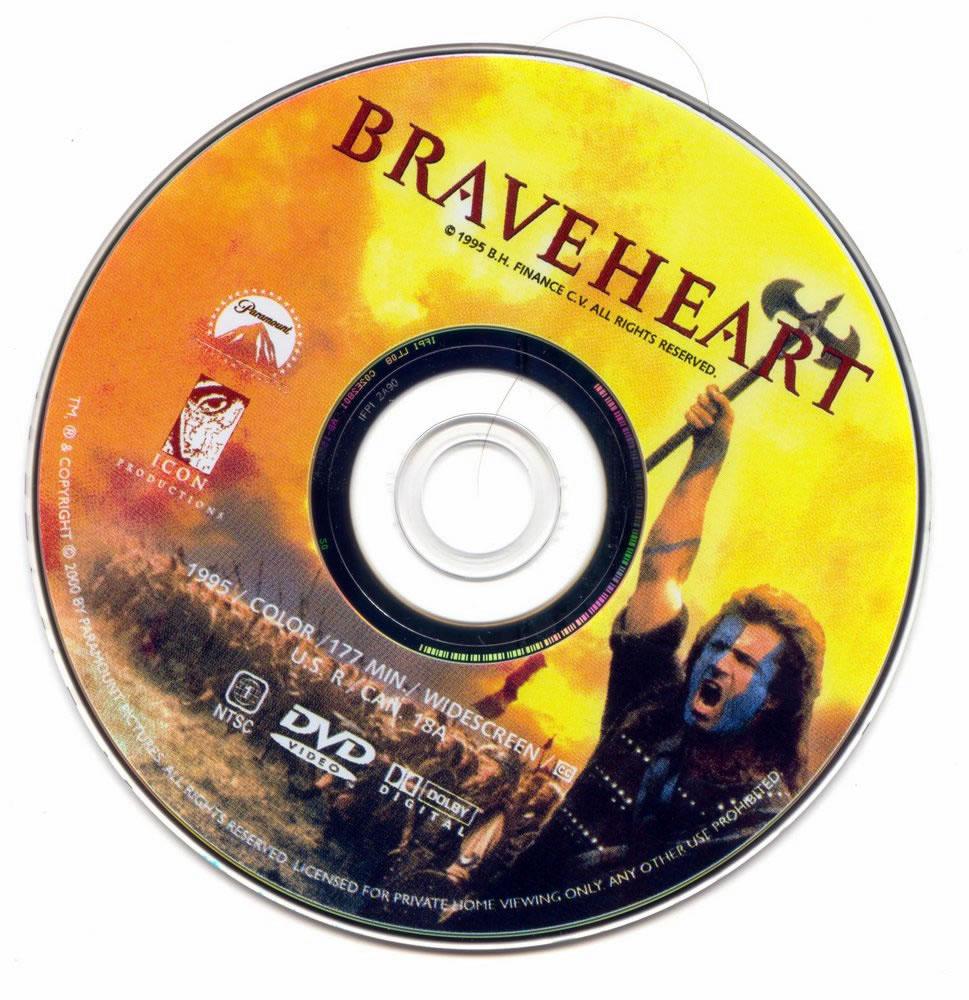 Braveheart Movie Dvd Label