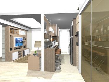 Projeto sala e cozinha