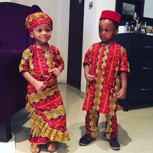 Photos Nigerian Celebrity Children Dress In Their Traditional Attire To Celebrate Independence Day