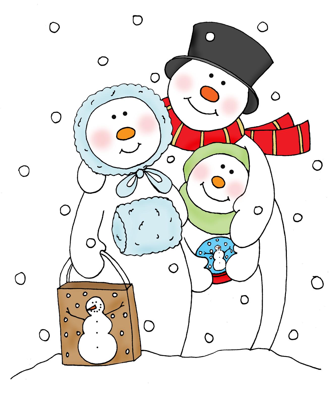 snowman family clip art free - photo #23