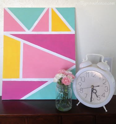 DIY Geometric Wall Art from Pretty Providence