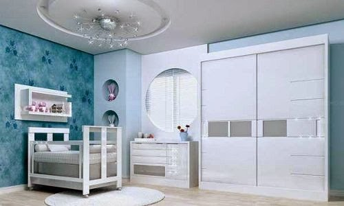 modern baby room plan blue and white pictures