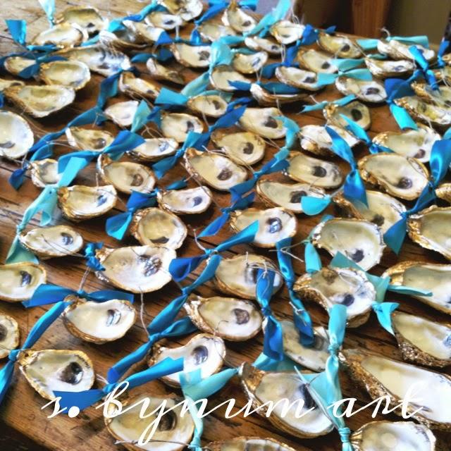 S Bynum Art Shop Signature Gold Oyster Shells