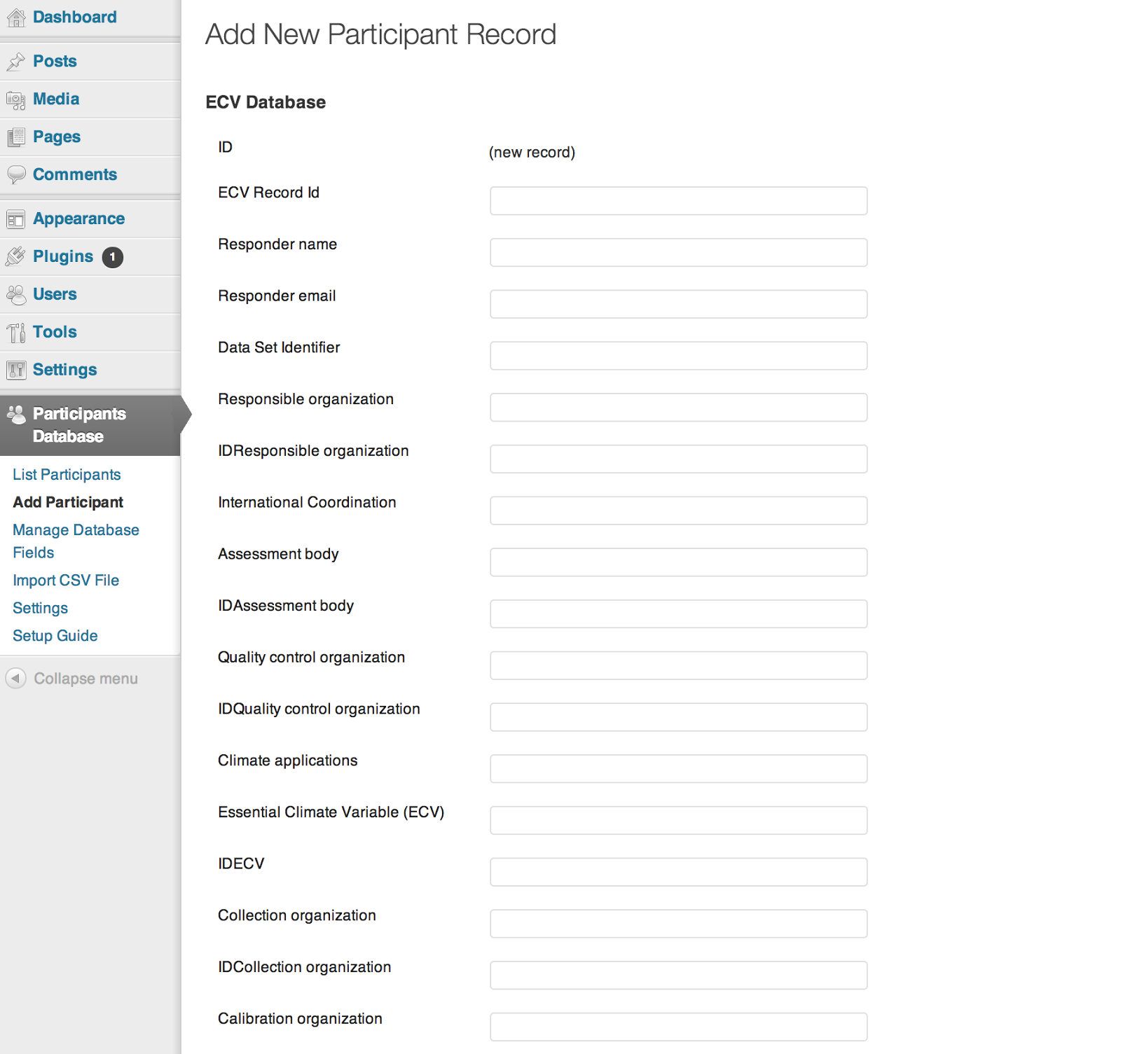 Participants Database Wordpress Participants Database 1.5.4.8 - SQL Injection