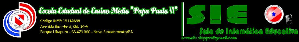 Sala de Informática Educativa da Escola Papa Paulo VI
